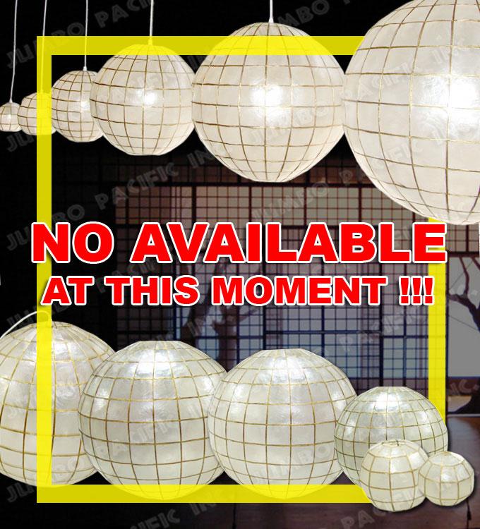 Capiz Globle Chandelier Lantern