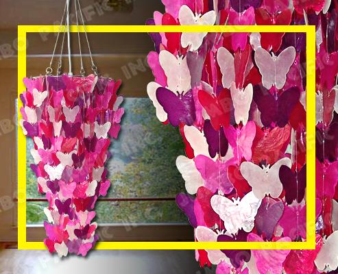 Hängender Capiz Blume Leuchter