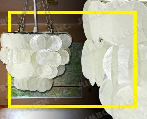 Lámpara colgante de Capiz