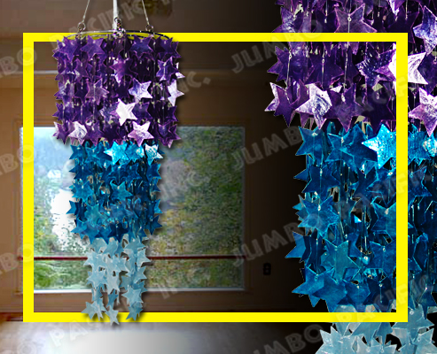 Hanging Star Capiz Chandelier