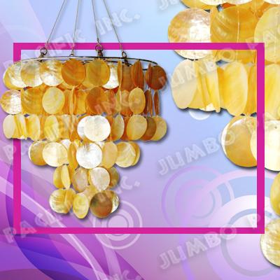Gold Capiz Chandelier
