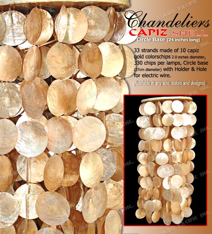 Drewniany Podstawowy Złocisty Capiz Wiszący Świecznik