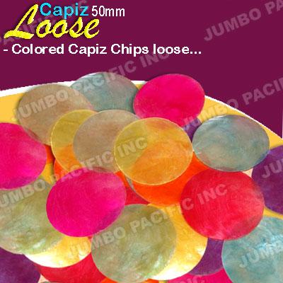 Capiz shell chips