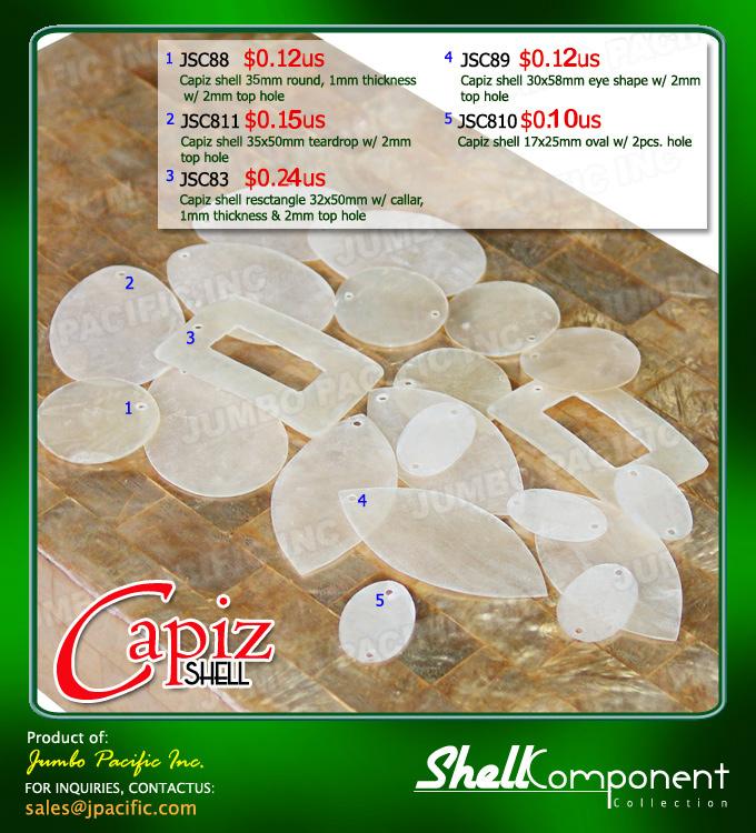 Shell van Capiz componenten