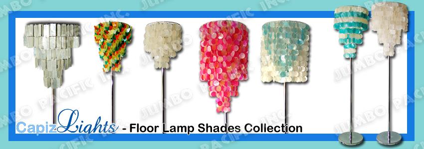 Table Capiz Lamp Shades