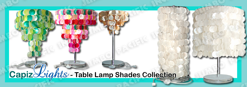 Table Capiz Lamp Shades
